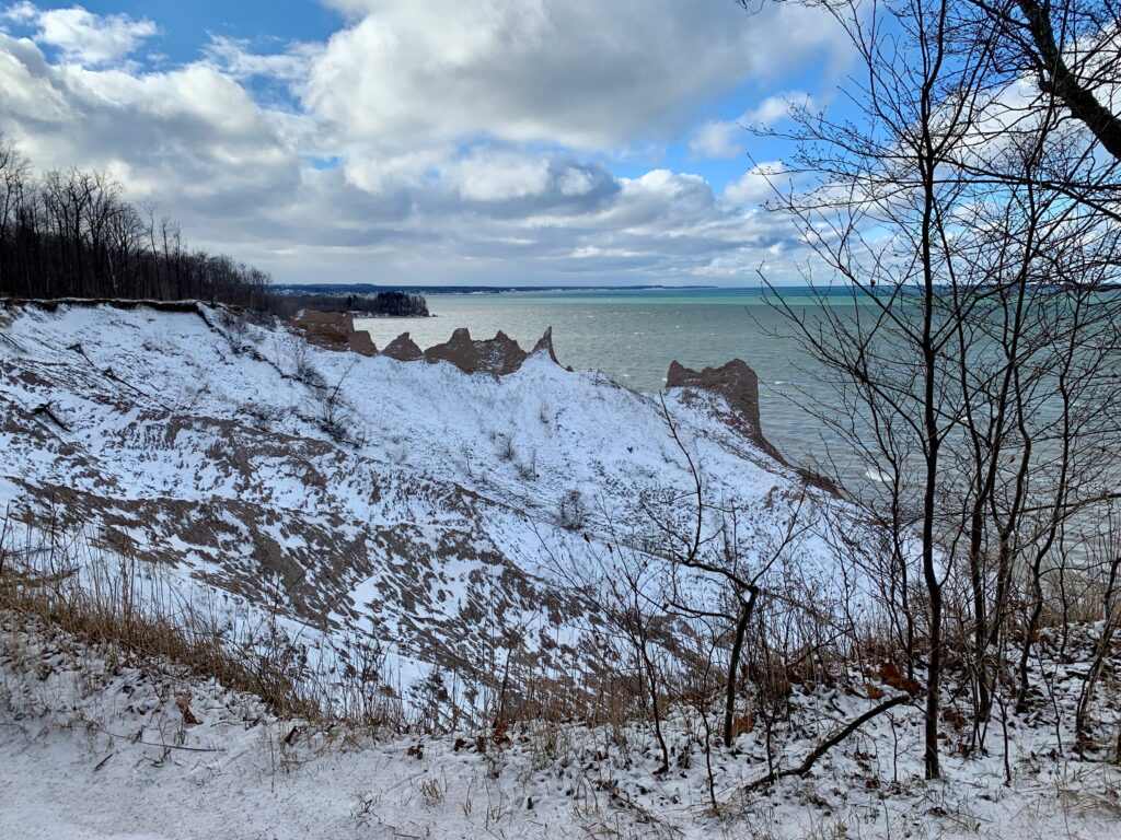 Chimney Bluffs State Park in the Winter