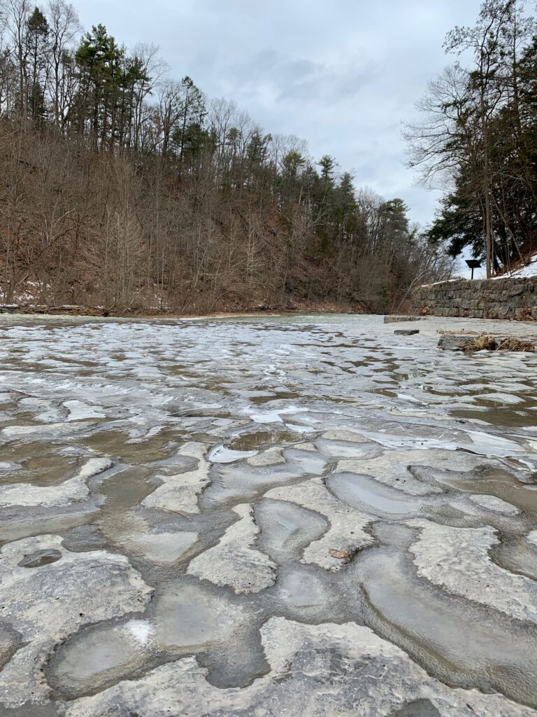 Frozen River Bed at Taughahock Falls